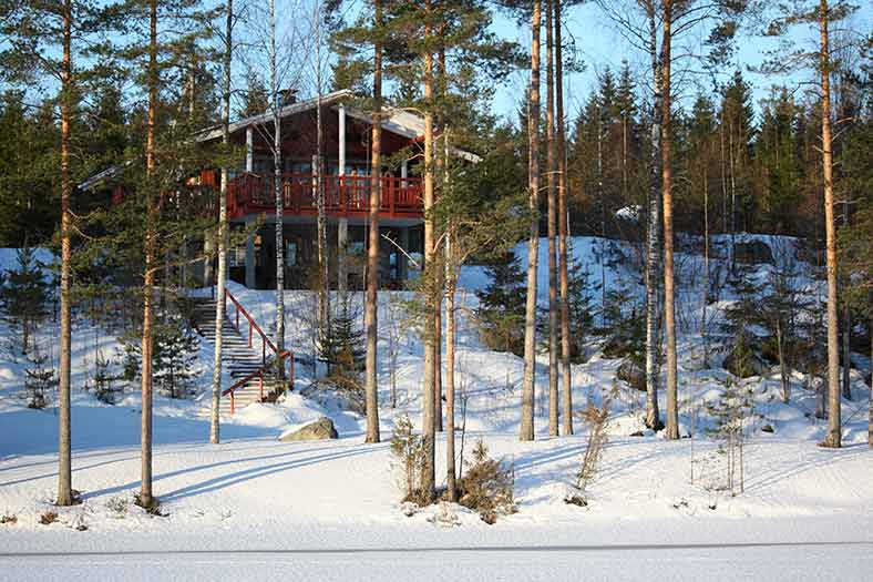 christmas in finland cabins