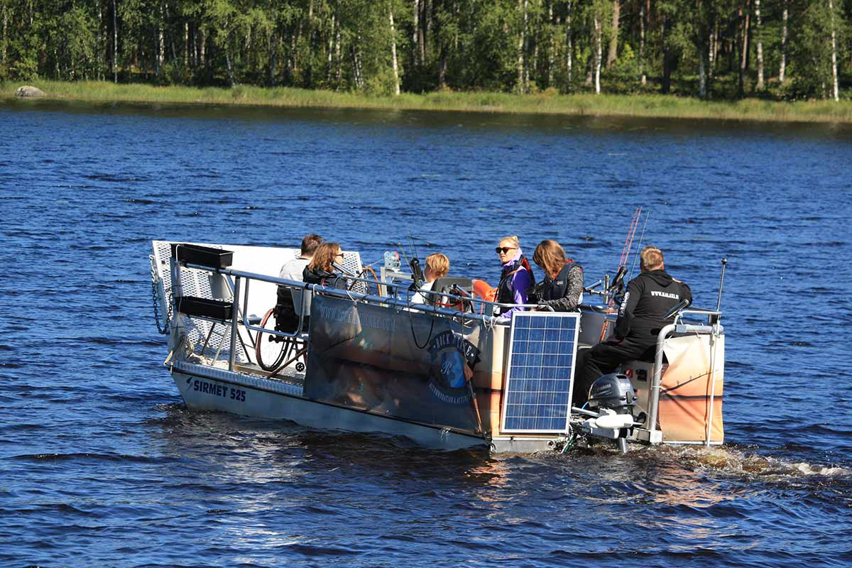 rent accessible boat finland