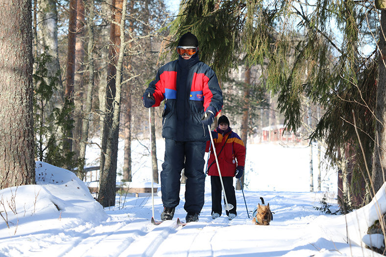 cross-country skiing resort finland