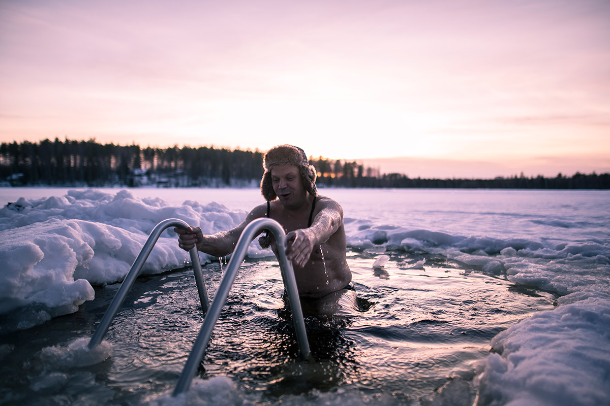 things to do finland winter ice swimming