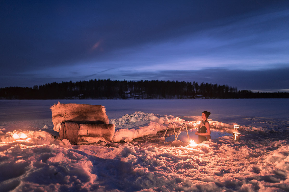 ice swimming finland